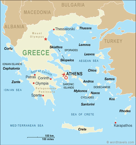 Geography and environment all about greek history map that shows the islands and capitols of greece human characteristics credit httpwordtravelstravelguidecountriesgreecemap gumiabroncs Gallery
